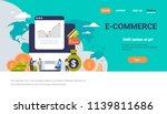 e commerce business money graph ... | Shutterstock .eps vector #1139811686