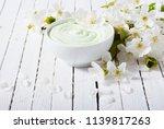 moisturizer cream with cherry...   Shutterstock . vector #1139817263