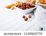 hard shell stone fruits on... | Shutterstock . vector #1139820770