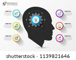 infographic design template.... | Shutterstock .eps vector #1139821646