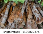 pile of firewood backgrounds... | Shutterstock . vector #1139822576