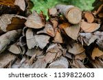 pile of firewood backgrounds... | Shutterstock . vector #1139822603