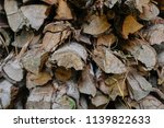 pile of firewood backgrounds... | Shutterstock . vector #1139822633