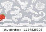 milk splash. 3d realistic... | Shutterstock .eps vector #1139825303