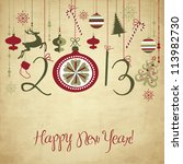 2013 happy new year background. | Shutterstock .eps vector #113982730