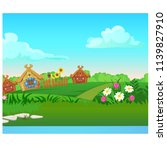 cute poster with wooden country ... | Shutterstock .eps vector #1139827910