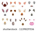 animal mask vector animalistic... | Shutterstock .eps vector #1139829536