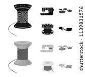 thread reel  sewing machine ... | Shutterstock .eps vector #1139831576