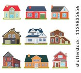 private houses color flat icons ... | Shutterstock .eps vector #1139835656
