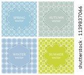 vintage frames set on line... | Shutterstock .eps vector #1139837066