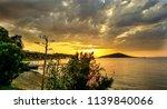 sunset at gumusluk  bodrum ... | Shutterstock . vector #1139840066