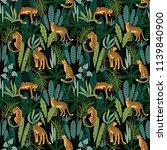 vestor seamless pattern with... | Shutterstock .eps vector #1139840900