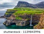 gasadalur village and beautiful ... | Shutterstock . vector #1139843996