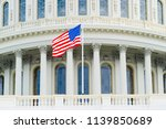us capitol building dome detail ... | Shutterstock . vector #1139850689