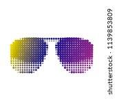 sunglasses retro sunglasses in...   Shutterstock .eps vector #1139853809