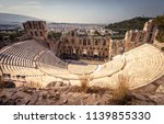 panoramic view of the odeon of... | Shutterstock . vector #1139855330