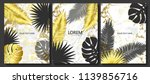 luxury cards collection with... | Shutterstock .eps vector #1139856716