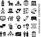 icons of politics and american... | Shutterstock .eps vector #113985763