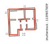vector cartoon house plan icon...