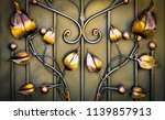forged leaves  forged flowers  | Shutterstock . vector #1139857913