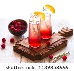 summer refreshing non alcoholic ...   Shutterstock . vector #1139858666