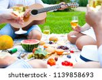 summer picnic basket on the...   Shutterstock . vector #1139858693
