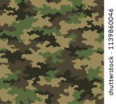 camouflage pattern background... | Shutterstock .eps vector #1139860046