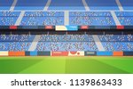 empty football stadium field... | Shutterstock .eps vector #1139863433
