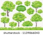 cartoon trees and bushs. big... | Shutterstock .eps vector #1139866043
