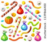 set of colorful halloween...   Shutterstock .eps vector #1139866400