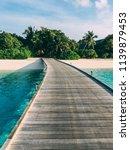 maldives island luxury resort... | Shutterstock . vector #1139879453