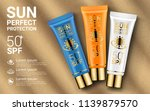 sun protection cosmetics.... | Shutterstock .eps vector #1139879570