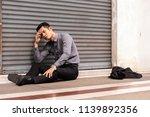 unemployed businessman stress... | Shutterstock . vector #1139892356