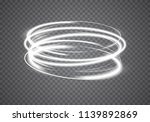 luminous spiral trail of rapid... | Shutterstock .eps vector #1139892869