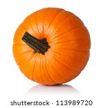 Fresh Orange Pumpkin Isolated...