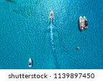 yachts at the sea in balearic... | Shutterstock . vector #1139897450
