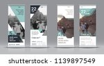 set of templates with a design... | Shutterstock .eps vector #1139897549