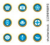 authorization water icons set.... | Shutterstock .eps vector #1139898893