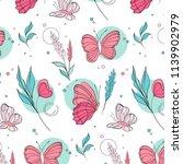 vector butterfly pattern.... | Shutterstock .eps vector #1139902979