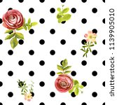 seamless dots style floral... | Shutterstock .eps vector #1139905010