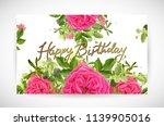 floral template card  garden... | Shutterstock .eps vector #1139905016