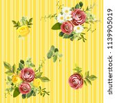 seamless striped style floral... | Shutterstock .eps vector #1139905019