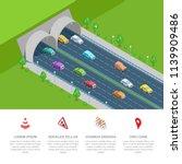 tunnel road vector isometric 3d ... | Shutterstock .eps vector #1139909486