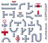 pipe details set isolated on... | Shutterstock .eps vector #1139910269