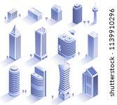 set of modern buildings. city... | Shutterstock .eps vector #1139910296