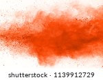orange powder explosion... | Shutterstock . vector #1139912729