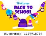 back to school. design of the... | Shutterstock .eps vector #1139918789