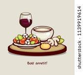 tasty dinner vector...   Shutterstock .eps vector #1139919614