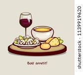 tasty dinner vector...   Shutterstock .eps vector #1139919620
