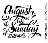 hello august lettering. august... | Shutterstock .eps vector #1139920943